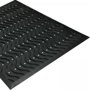 Резиновый придверный коврик Волна